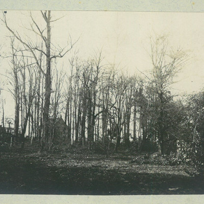 Parc du Château du Mérinos alors demeure de la famille Seydoux après la libération de 1918