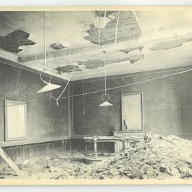 L' intérieur de l'Hôtel de ville en 1918.