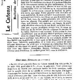 Le Bulletin des évacués du 25 janvier 1917