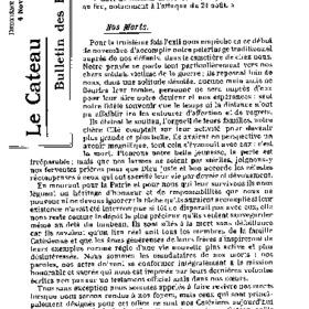 Le Bulletin des évacués du 4 novembre 1916