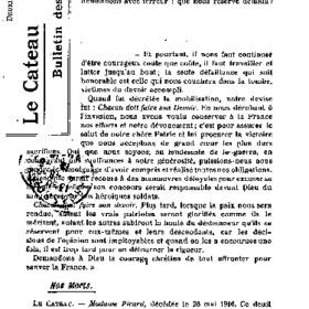 Le Bulletin des évacués du 02 août 1916