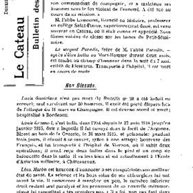 Le Bulletin des évacués du 30 juin 1916