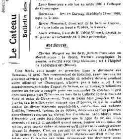 Le Bulletin des évacués du 31 mai 1916