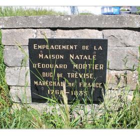 Plaque de la maison natale du Maréchal Mortier