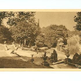 Carte postale, jardin public du Palais Fénelon