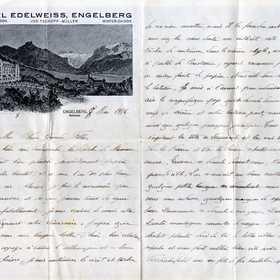 Lettre de Charles Beauvois à ses filles du 9 mai 1916