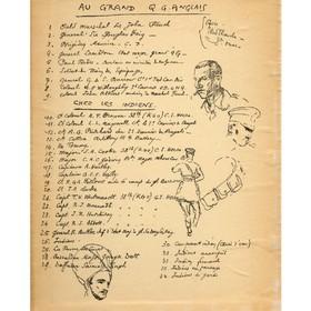 Carnet de dessin de Lucien Jonas durant la Première Guerre mondiale