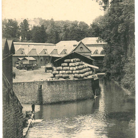 Carte postale de l'abreuvoir sur la Selle